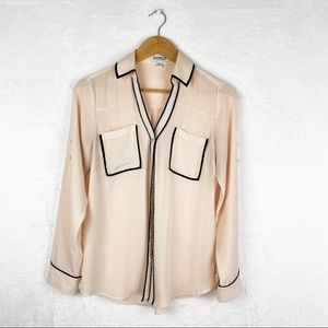 Express the Portofino Shirt in Peach Black